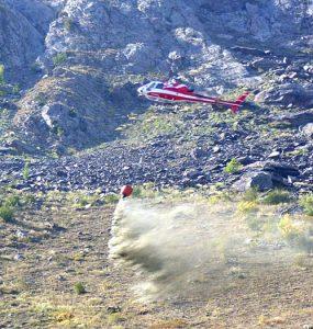 Engazonnement par hélicoptère