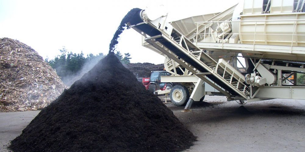 Déchets verts production composte